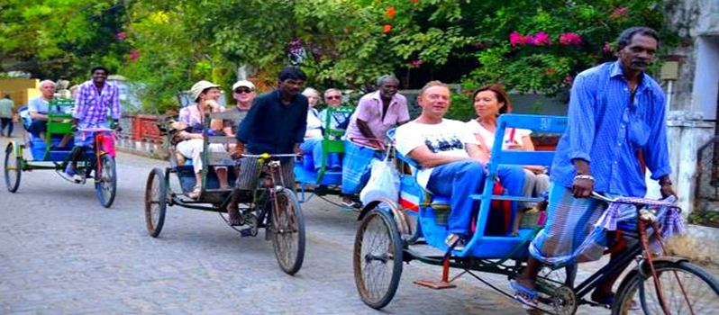 Pondy cycle tour | Pondicherry White Town Visit